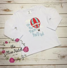 Dr. Seuss Shirt  Oh the Places You'll Go by TheOliveHatch on Etsy