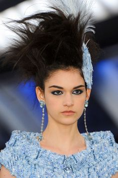 hair at the chanel couture spring 2012 show