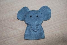 marionnette a doigt en feutrine animaux éléphant : Jeux, jouets par cfasyl