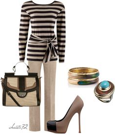 """Office Stripes"" by christa72 ❤ liked on Polyvore"