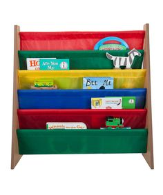 Look at this Wood Kids Book Organizer on #zulily today!