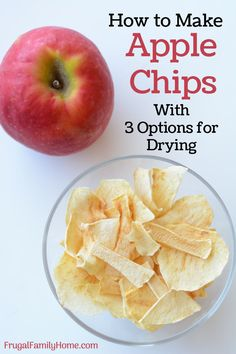 Homemade apple chips are simple, healthy and easy to make with this recipe. Only one ingredient needed. Plus I've shared three ways to dry your apple chips. I'm sure one of these methods will work for you.