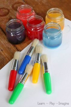 Painting in the rain - Homemade paint recipe using RAIN as one of the ingredients!
