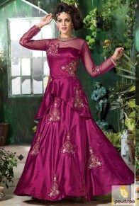 Spellbound Magenta Santoon Anarkali Salwar Suit  #pavitraa, #gown, #dress, #promdress, #partywearsuits, #westerndress, #onlinedress, #longdress,#pavitraafashion,#hollywoodstylishsuits, eiddress
