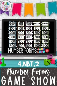 Are you looking to add some excitement to your math review days? This number forms digital game show will be having your students cheering with excitement! Your 4th grade students will be practicing standard, expanded, word, and base ten form something that students are EXCITED to do! This game can be used on PowerPoint, Keynote & Google! This game will make review game SO easy!