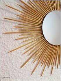Boho Bedroom Diy, Diy Home Decor Bedroom, Diy Rustic Decor, Upcycled Home Decor, Mirror Decor Living Room, Mirror Crafts, Sunburst Mirror, Sun Mirror, Boho Diy