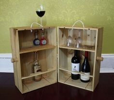 Create a Minibar From Wooden Wine Crates