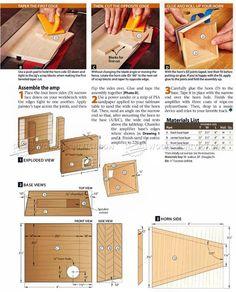 #1797 DIY Iphone Amplifier - Woodworking Plans