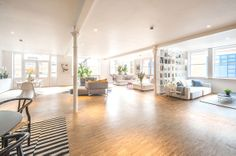 Warehouse converted into loft apartment