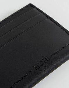 Kiomi Leather Cardholder In Black