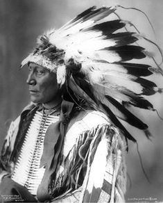 Chief Hollow Horn Bear, Brule Sioux.  Photo by F.A. Rinehart, 1898.