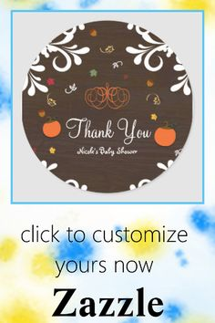 Shop Fall in Love Pumpkins Leaves & Wood Baby Shower Classic Round Sticker created by printabledigidesigns. Personalize it with photos & text or purchase as is! Fall Birthday, Birthday Parties, Pumpkin Leaves, Round Stickers, Different Shapes, Pumpkins, Falling In Love, Custom Stickers, Party Favors