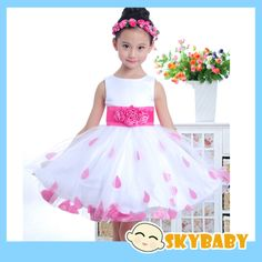 New In 2014 Flower Girl Dresses Lace Rose Girls Wedding Dress Sleeveless Ball Gown Wedding Dress Girls Brand