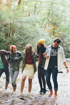 walk in love. / full of glory collection / hipsters in a river