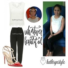 """""""Kathryn's outfit at her contract signing Kathryn Bernardo, T Shirt, Outfits, Instagram, Women, Fashion, Supreme T Shirt, Moda, Tee Shirt"""