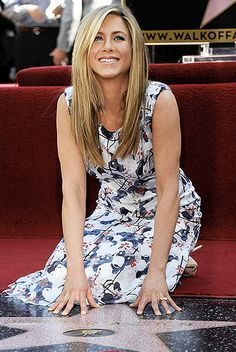 Jennifer Aniston Photos - Actress Jennifer Aniston who was honored with a star on the Hollywood Walk Of Fame on February 2012 in Hollywood, California. - Jennifer Aniston Honored On The Hollywood Walk Of Fame Jennifer Aniston Style, Jenifer Aniston, Jennifer Lawrence, Ross Geller, Hollywood Walk Of Fame, Hollywood Stars, Hollywood Boulevard, Justin Theroux, Rachel Green