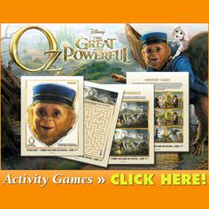 OZ movie activity pages