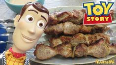 Woody Toy Story Figure Sheriff Woody COOK FRIED MEAT ON COALS DISNEY TOY...