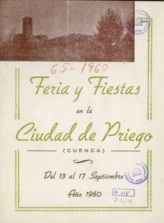 Fiestas en Priego (Cuenca) en honor al Cristo de la Caridad del 13 al 17 de septiembre de 1960 El pregón de fiestas lo pronuncia Andrés Gallardo #Fiestaspopulares #Priego #Cuenca #AndresGallardo