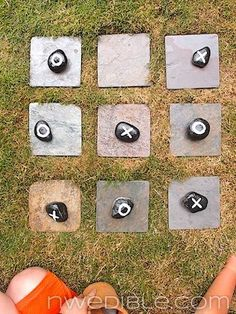 Tic-Tac-Toe in the yard for the kids