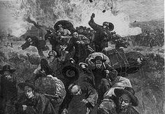 Chinese men were stereotyped as degenerate heroin addicts whose presence encouraged prostitution, gambling, and other immoral activities. In what becomes known as the Chinese Massacre of 1871, Chinese-occupied buildings were ransacked and residents were attacked or robbed in Los Angeles' Chinatown by an angry mob of over 500 Whites.