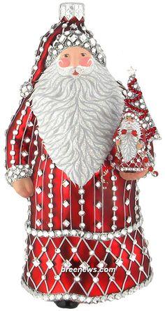 Beautiful Christmas Trees, Christmas Tree Themes, All Things Christmas, Red Christmas, Holiday Decor, Halloween Ornaments, Santa Ornaments, Ornaments Design, Christmas Tree Ornaments