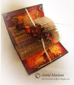 Autumnal Altered Book - Astrids Artistic Efforts