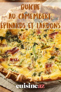Cette recette de quiche au camembert, épinards et lardons est une entrée chaude facile à réaliser. #recette#cuisine#quiche#camembert #epinard#lardon #entree