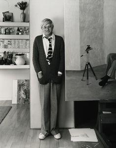 Arnold Newman - David Hockney, London, England (1978)