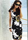 Black Multi (BKMU) Printed Sheath Dress
