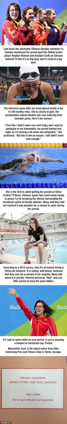 Adorable Chinese Swimmer Fu YuanHui Reminds People That Periods Don't Care