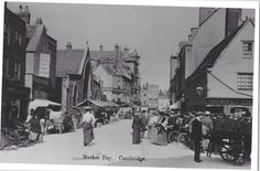 Peas Hill, looking towards the Market today on the left would be Arts Theatre and right The Guildhall. Looks like around 1905?