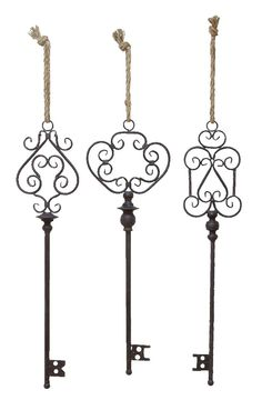 Old Fashioned Style Black Metal Keys Scroll Work  lamp   lighting, furniture   accents, home decor   accessories, wall decor, patio   garden, Rugs, seasonal decor,wall art