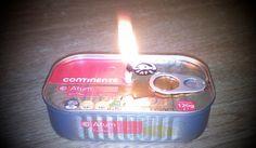 Como fazer uma vela de emergência com uma lata de atum!