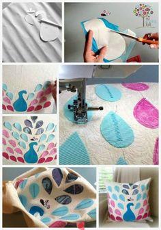 DIY peacock pillow @Christina Childress Childress Petty