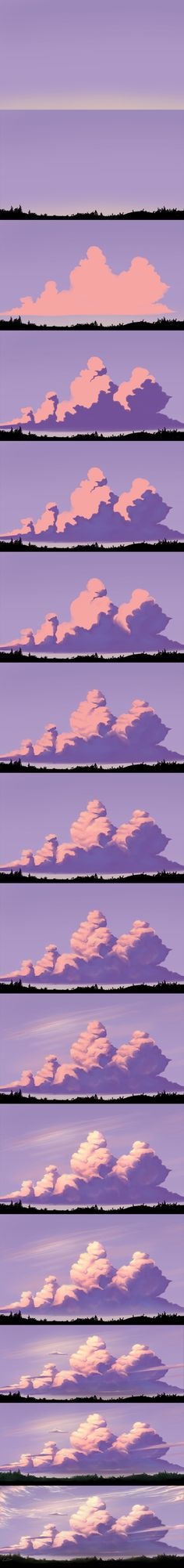 Evening Sky - Step by Step by Dea-89.deviantart.com on @DeviantArt