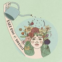 Take care of yourself. What a lovely affirmation. It's wisdom we can all get behind. If you'd like more self-care for free, click the pic. See you there!