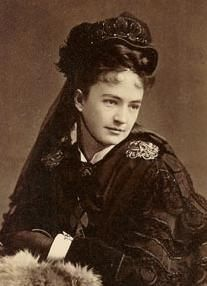 Elizabeth Bacon Custer (1842-1933), wife of George Armstrong Custer for 12 years and his widow for 57 years. After Custer's disastrous confrontation with the Sioux and Cheyenne at the Little Big Horn on June 25,1876, Libbie Custer set out to rehabilitate his image. She made a good living from her books and lectures about her late husband, and died at the age of slmost 91, leaving a $100,000 estate.