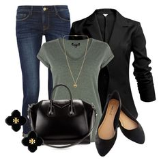 """""""Professional Wardrobe for All Ages Outfit: 38"""" by vanessa-bohlmann ❤ liked on Polyvore featuring Frame Denim, Warehouse, Givenchy, Wet Seal, Tory Burch and Michael Kors"""