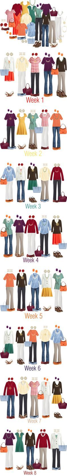 Image result for capsule wardrobe of primary colors
