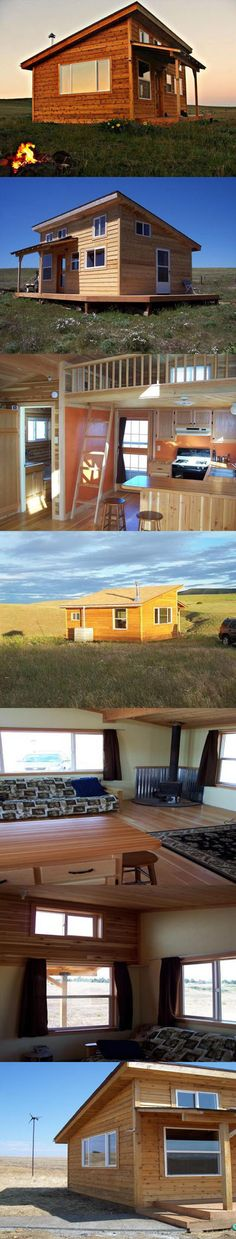 Tiny cabin with half acre of land. Cabin is equipped with solar and wind-generated power, small 12v fridge, wood stove, propane water heater, and a rain water collection system. It has a 10′x10′ loft for sleeping quarters, and a bathroom area with a shower. The toilet is a compost-type (sawdust).