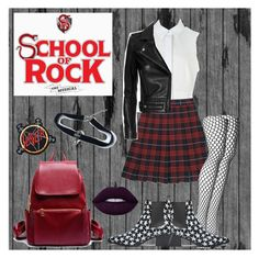 """""""School of Rock"""" by katiebodlak on Polyvore featuring Alexander Wang, Wolford, IRO, Yves Saint Laurent and Lime Crime"""