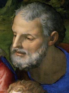 Leonardo da Vinci as Saint Joachim re: previous pinner ~ I can see it.