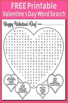 free valentines word search for elementary students - Yahoo Search Results Yahoo Image Search Results Valentines Word Search, Kinder Valentines, Valentines Day Poems, Valentine Words, Valentines Games, Valentines Day Activities, Valentinstag Party, Valentine's Day Crafts For Kids, Valentine Crafts For Kids