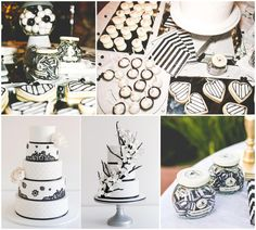 black and white party ideas food