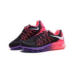 Nike Air Max 2015 698903-006 Damskie Czarne Rozowe Fioletowe buty-nike-sklep.pl