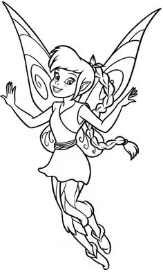 Disney Fairies, : Lovely Fawn from Disney Fairies Coloring Page