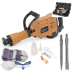 ARKSEN 2800W Electric Demolition Jack Hammer Concrete Breaker Point  Chisel w Case *** Visit the image link more details. This is Amazon affiliate link.