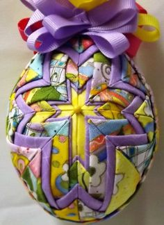 Easter Cross Quilted Ornament