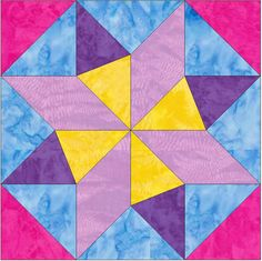 EQ Star 15 Inch Block Paper Template Quilting Block Pattern PDF by HumburgCreations on Etsy